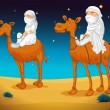 Arabs on camel — Vector de stock