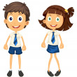 Kids with pencil — Stock Vector #12398081