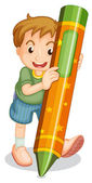 Crayon kid — Stock Vector