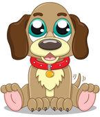 Cute cartoon puppy — Stock Vector