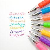 Palavra de negócios — Foto Stock