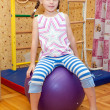 Girl on the fitball — Stock Photo