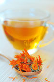 Marigold herbal tea — Stock Photo