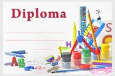 Preschool diploma — Stock Photo