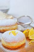 Donut with lemon — Stock Photo