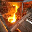 Stock Photo: Transportation molten hot steel