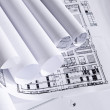 Stock Photo: Plans of architecture