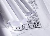 Planer för arkitekturen — Stockfoto