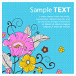 Royalty-Free Stock Vector Image: Card with flowers_peas