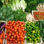 Fresh vegetables market, Luang pra bang, Laos — Stock Photo #10801880