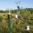 Solar power weather station — Stock Photo