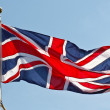 British Flag on flagpole — Stock Photo