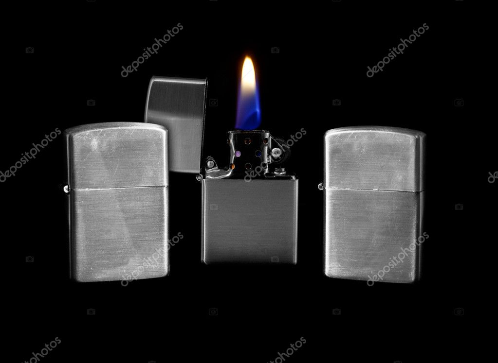 Windproof Petrol Lighter which can also be filled with Lighter fluid — Stock Photo #11006532