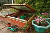 Gardeners cold frame — Stock Photo