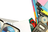 Stationery and office supplies — Stock Photo
