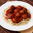 Постер, плакат: Plate of Spaghetti and Meatballs