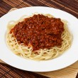 Plate of Spaghetti Bolognese - Stock Photo