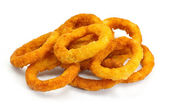 Deep fried onion rings — Stockfoto