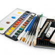 Watercolor paint equipment — Stock Photo #12312990