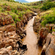 Muddy river in canyon — Stock Photo