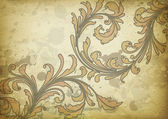 Vintage floral background — Vettoriale Stock