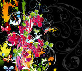 Colorful floral background — Stock vektor