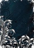 цветочный гранж фон — Cтоковый вектор