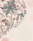 Fondo floral garabatos — Vector de stock