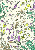 Doodles floral background — Cтоковый вектор