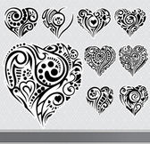 Abstract hearts set — Vecteur