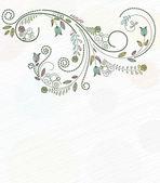 Doodles floral background — Stock Vector