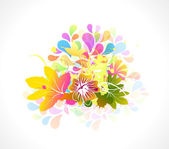 Colorful floral illustration — Stock Vector