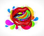 Abstrata colorida boca — Vetor de Stock