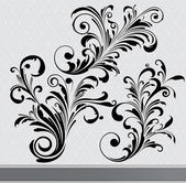 Floral elements set — Stockvektor