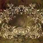 Grunge floral frame — Stock Vector #10889221