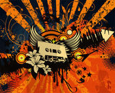 Retro grunge concert poster — Stock Vector