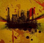 城市 grunge 背景 — 图库矢量图片
