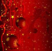 Grunge christmas greeting card — Stock Vector