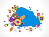 Popart цветочная рамка — Cтоковый вектор