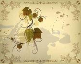 осень цветочный фон — Cтоковый вектор