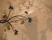 Fundo floral grunge — Vetorial Stock