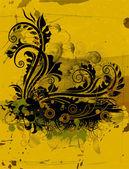 ビンテージ花の背景 — ストックベクタ
