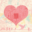 Vintage valentine background — Stock Vector