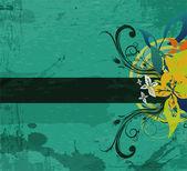 Grunge vintage floral background — Vecteur
