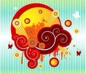 Ilustración abstracto colorido — Vector de stock