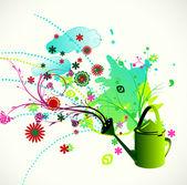 Renkli çiçek arka plan — Stok Vektör