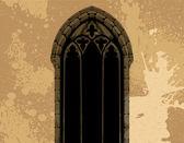 Grunge gotische illustratie — Stockvector