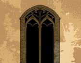 Grunge gothic illustration — Stock Vector