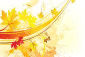 Sonbaharda çiçek arka plan — Stok Vektör