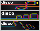 Disco banners set — Stock Vector